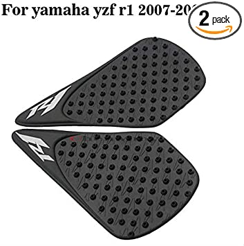 Motorcycle Gas Tank Pad Traction Side Fuel Grips Decals Protector For Yamaha YZF R1 2007 2008 07-08 Motorbike