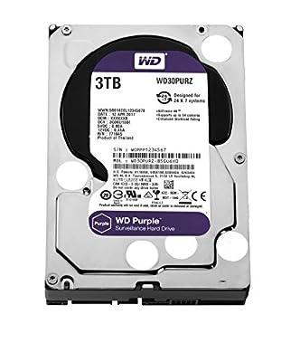 WD Purple 6TB Surveillance Hard Disk Drive - 5400 RPM Class SATA 6 Gb/s 128MB Cache 3.5 Inch - WD60PURZ