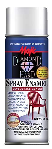 (Majic Paints DH YENKIN Majestic Paint 8-21520-8 21520-8 Satin White Diamond Hard Spray, 11 oz/Aerosol)