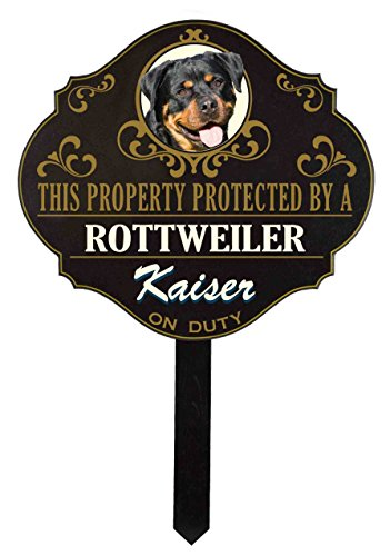 - THOUSAND OAKS BARREL Personalized Protected by 'Rottweiler' Sign (wulf17)