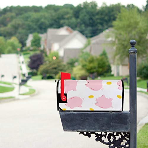 THKDSC Cheerful Cute Little Cute Flying Pigs Mailbox Covers Standard Size Original Magnetic Mail Cover Letter Post Box 21