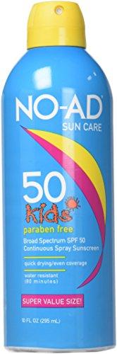 No Ad Spray Sunscreen