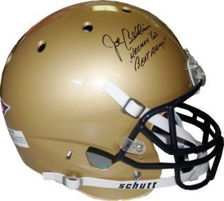 Joe Bellino Signed Autograph Navy Midshipmen Full Size Schutt Replica Helmet Heisman 60Beat Army! - JSA Certified - Authentic College Helmets