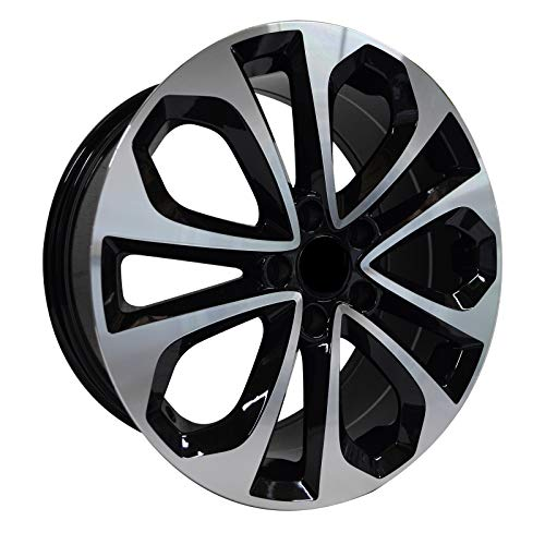 65318-18 inch rims Fits Honda Accord Coupe Style Black Machined Rim 18x8 5x114.3 ET45 - Coupe Rim