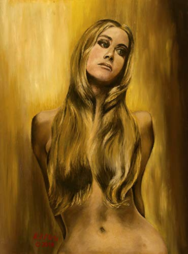 Original Oil Painting of Sharon Tate, This Beautiful Picture can be Stretched into a Poster or Framed to Your Decor, Giclee Reproduction on Canvas,18 x 24, Copyright 2018 ()