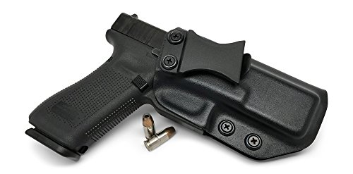 Concealment Express IWB KYDEX Holster: fits Glock 17 22 31 - Custom Fit - US Made - Inside Waistband - Adj. Cant/Retention (BLK, - Concealment Pistol Holster Pancake