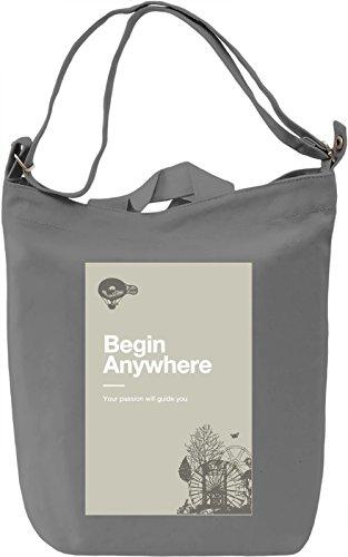 Begin anywhere Borsa Giornaliera Canvas Canvas Day Bag  100% Premium Cotton Canvas  DTG Printing 