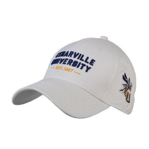 CedarvilleホワイトHeavyweight Twill Proスタイル帽子' Cedarville大学Est。1887 '   B00SIORFZ8