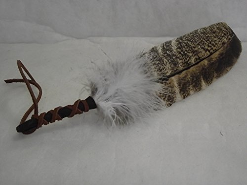 Smudging Feather Blessed for White Sage Smudge and Ceremonies (Smudge Fan)