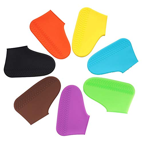 Reusable Shoe Covers, Multicolor Boot Covers, Waterproof Non-Slip Men/Women/Kids Covers For Shoes, Unisex Overshoes, Stretchable Galoshes for Rain Snow Outdoor, Send One Pair at Random ()