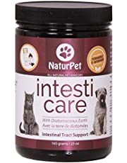 NaturPet Intesti Care for Dogs & Cats   Natural Alternative to Chemical Dewormers   Promotes a Healthy intestinal Tract Free of parasites and Worms   Contains Diatomaceous Earth