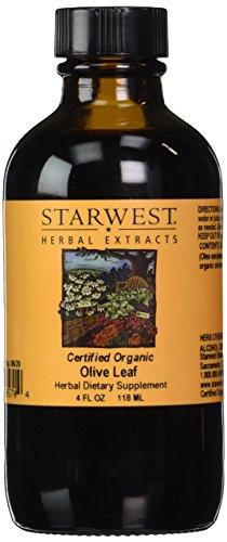Olive Leaf Extract Organic - 4 oz,(Starwest Botanicals)