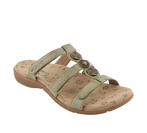 - Taos Footwear Women's Prize 3 Herb Green Sandal 12 M US