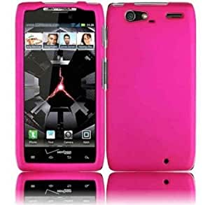 Quaroth - Hot Pink Premium Rubberized Hard Skin Cover Case for Verizon Motorola XT913/XT916 Droid Razr Maxx