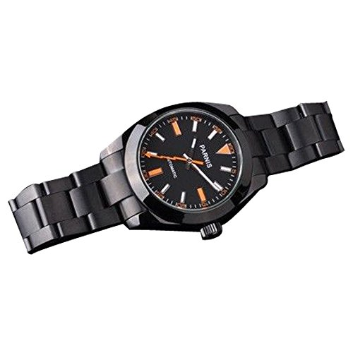 Whatswatch 40mm Parnis Black Dial Milgauss Style Automatic Mens Watch PA-0047 ()