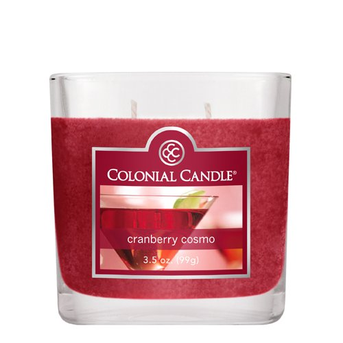 Colonial Candle 3-1/2-Ounce Scented Oval Jar Candle, Cranberry Cosmo