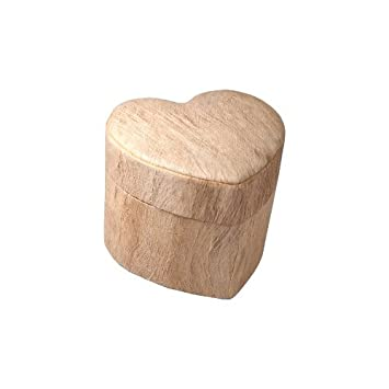 Memorial Gallery Unity Heart Shaped Biodegradable Cremation Urn Mini, Wood Grain