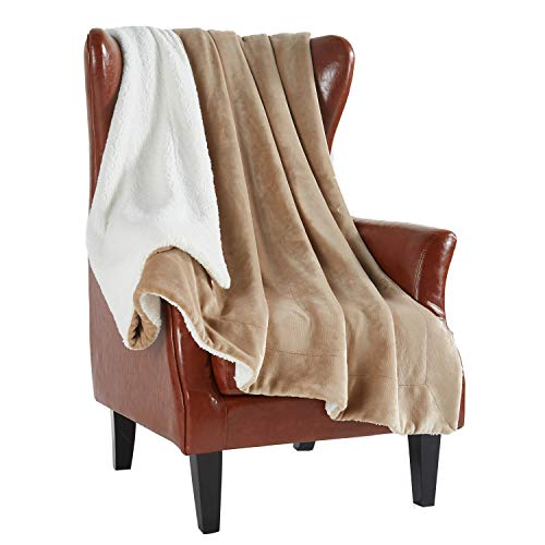 (MERRYLIFE Decorative Sherpa Throw Blanket Ultra-Plush Comfort | Soft, Colorful | Home, Couch, Outdoor, Travel Use (60