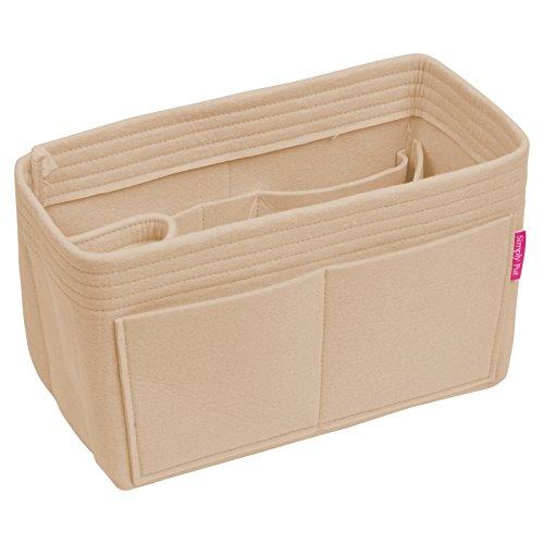 Handbag Organizer, Purse Organizer, Insert, Liner, Felt Structure Shaper X-Large, Extra Large, Beige