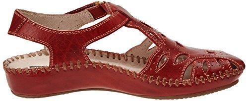 Pikolinos P. Vallarta 655 - Sandalias de Vestir de cuero mujer Rojo - Rouge (Sandia)