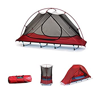 5lbs Ultra Lightweight Waterproof 1 Person Easy Carry C&ing Tent Cot Off the Ground  sc 1 st  Amazon.com & Amazon.com : 5lbs Ultra Lightweight Waterproof 1 Person Easy Carry ...