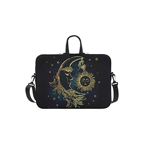 InterestPrint Moon and Sun Laptop Sleeve Case Bag