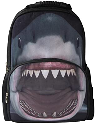 Animal FaceTM 3D Animals Shark Backpack 3D Deep Stereographic Felt Fabric