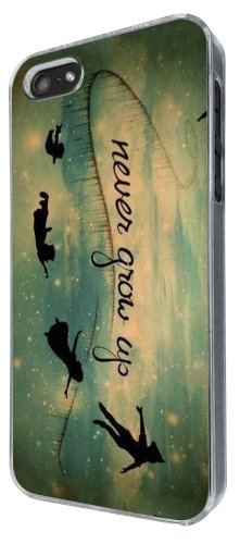 iphone 5 5S Out Of This World Space Galaxy never grow up Cartoon Funky Fashion Trend Hülle Case Back Cover Metall und Kunststoff