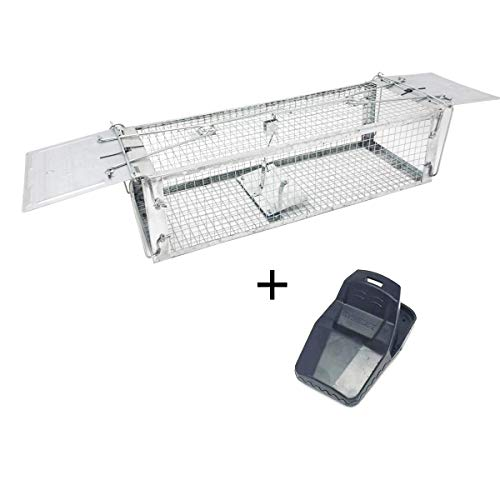 Traps Mouse Trap Rat Traps Two Door Live Animal Trap Humane Rat Trap Cage Two Doors Rat Trap -Catch and Release Mice, Rats,Chipmunk, Pests, Rodents for Indoor and Outdoor (Upgraded 2 Doors)