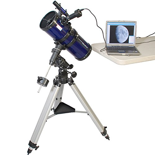 Blue AstroVenture 6'' Short Tube Reflector Telescope with Digital USB Camera by Twin Star