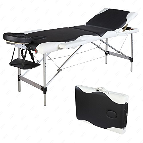 SUNCOO Portable Massage Table Folding Facial Bed Lightweight Wood Frame with Carrying Case