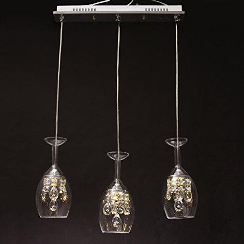 LightInTheBox Island Crystal LED Mini Pendant Three Light Home Ceiling Light Fixture Flush Mount, Pendant Light Chandeliers Lighting for Dining Room, Living Room