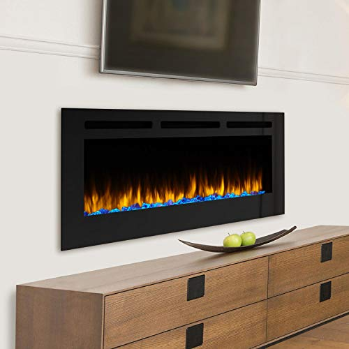 SimpliFire Allusion 60-Inch Wall Mount Electric Fireplace - SF-ALL60-BK (Bk Wall Mount Direct)