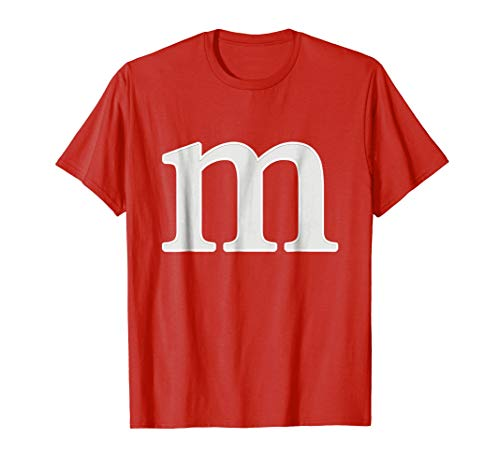 letter m shirt lower case alphabet t-shirt