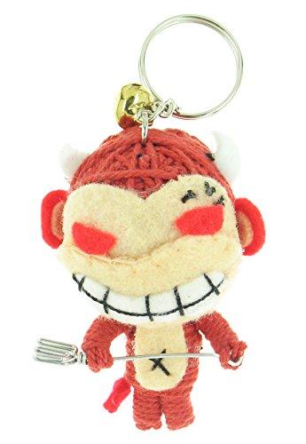 Hollywood Devil Costumes (Devil Red Monkey Voodoo String Doll Keyring Keychain)