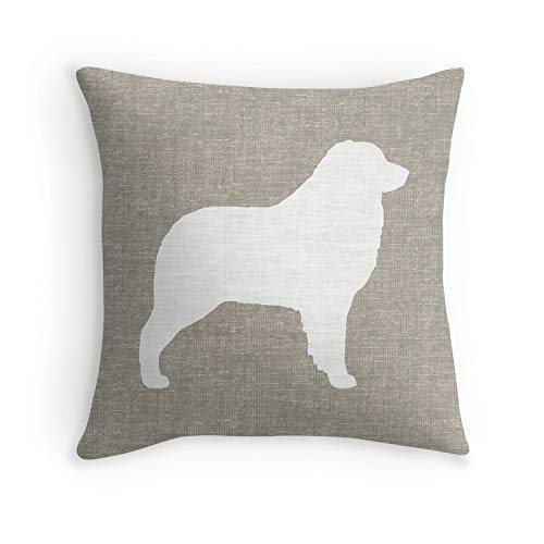 Australian Shepherd – White Silhouette(s) for Sofa Couch Living Room Bed Decorative