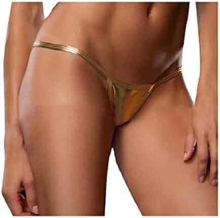 179fe019a Coolred-Women Metallic for Sex Flirt T-Back Hipster 3 Pack V-String