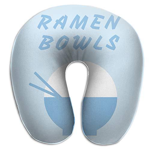 U-shaped Double Bowl - DMN U-Shaped Neck Pillow Ramen Bowls Pillows Soft Portable for Travel Reading Sleeping