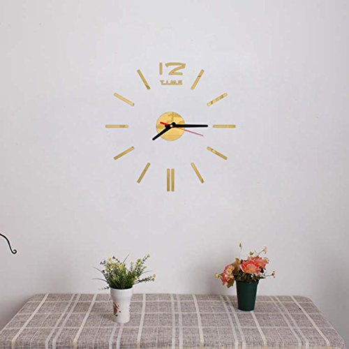 Webla DIY - Mini Reloj de Pared Digital en inglés, Color Negro ...