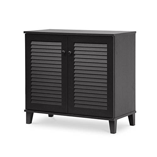 - Baxton Studio Coolidge Shoe-Storage Cabinet, Espresso
