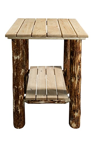 (Montana Woodworks Glacier Country Collection Exterior End Table, Exterior Stain Finish)