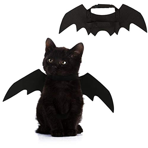 - ESTAY Bat Wings for Small Cat Dog Bat Costume Cosplay Accessories (Black)