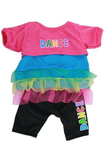 Dance 3 teile - leggings, kleid, top kleidung Teddy Bear Clothes fü r 38,1-40,6 cm (40cm) Teddys & Build a Bear 3037