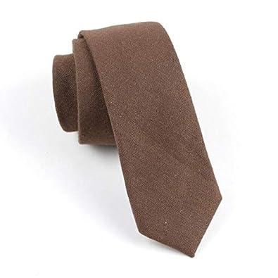 XIAMAZ Corbata De Algodón para Hombre Corbata De Color Sólido ...