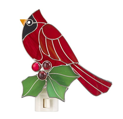 Holly Cardinal Stained Glass Night Light - By (Holly Light)