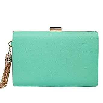 Leather Evening Clutches Handbag Bridal Purse Party Bags for Prom Cocktail Wedding Women/Girls