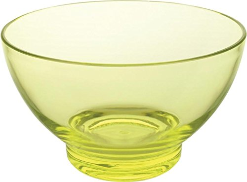 (Knack3 165307i Acrylic Clear Large Bowl, Tint Green, Round (Pack of 6))