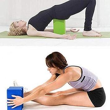 Lucky Direct Yoga Brick Yoga Equipment Yoga Brick Yoga Block Foam Brick Stretching Aid Gym Pilates for Exercise Fitness Sports Blue
