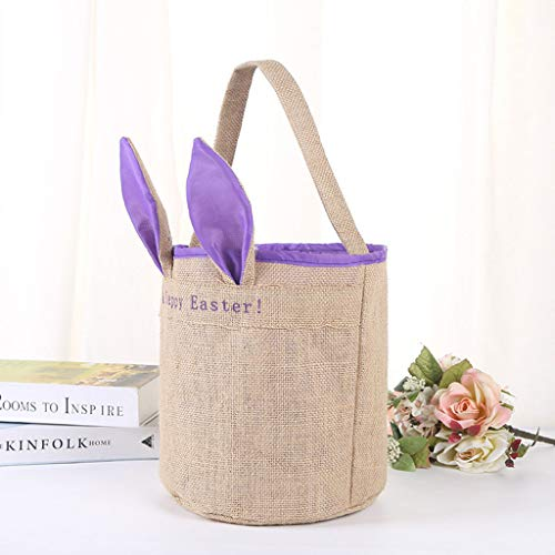 Sunyastor Easter Bunny Bag,Easter Egg Basket Bunny Ears