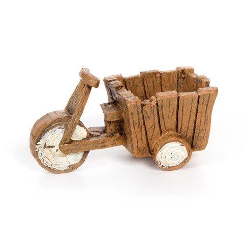 Darice 30005327 Wood Style Fairy Bicycle Cart-Resin-1.5x3.25